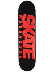 Skate Warehouse Fast Black Deck 7.75 x 31.5