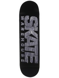 Skate Warehouse Fast Black Deck  8.5 x 32.25