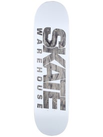 Skate Warehouse Fast White Deck  8.5 x 33