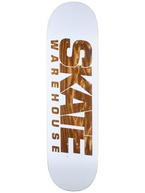 Skate Warehouse Fast White Deck 8.75 x 32.5
