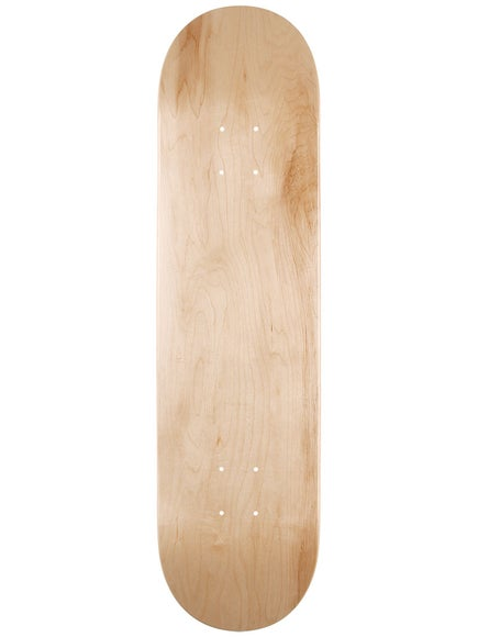 Skate Warehouse Blank V-Natural Deck 7.75 x 31.25