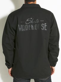 Skate Warehouse Stealth Script Coach Jacket