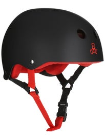 Triple 8 Brainsaver Helmet  Black Rubber/Red
