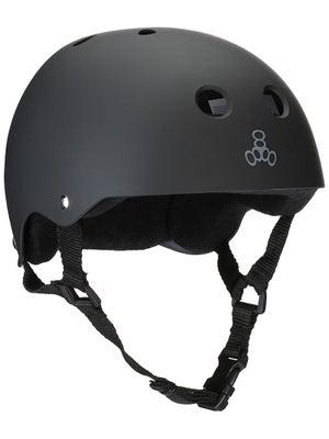 Triple 8 Brainsaver Helmet Black Rubber SM