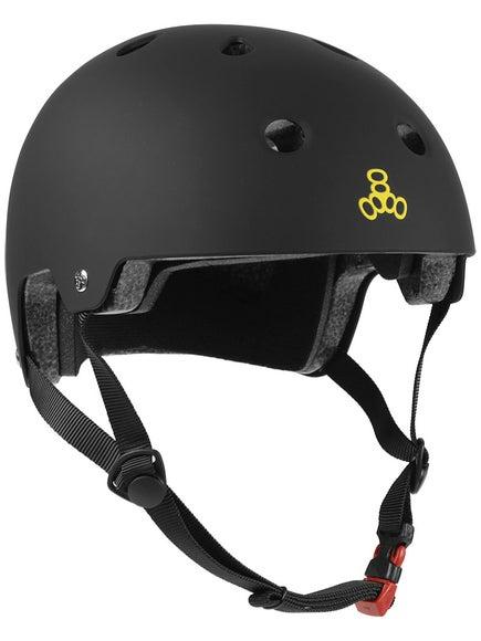Triple 8 Brainsaver Dual Certified Helmet  Black Rubber