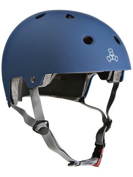 Triple 8 Brainsaver Dual Certified Helmet  Blue Rubber