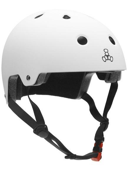 Triple 8 Brainsaver Dual Certified Helmet  White Rubber