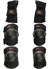 Triple 8 Little Tricky Jr. Pad Set 3 Pack Black