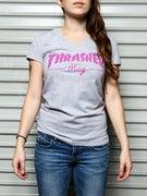 Thrasher Girls Mag Logo V-Neck T-Shirt
