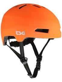 TSG Status Helmet with LED Light Matte Orange