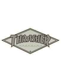 Thrasher Diamond Logo Sticker Grey/Silver