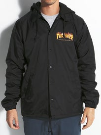 Thrasher Flame Logo Hooded Coach Jacket
