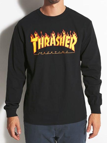 Thrasher Flame Longsleeve T-Shirt f8387962d2ed