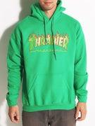 Thrasher Flame Logo Irish Hoodie