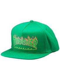 Thrasher Flame Logo Structured Snapback Hat