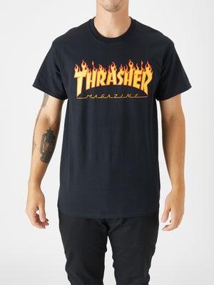 Thrasher Flame Tee XL Black