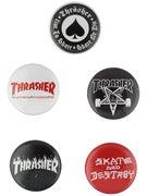 Thrasher Logo Buttons 5 Pack