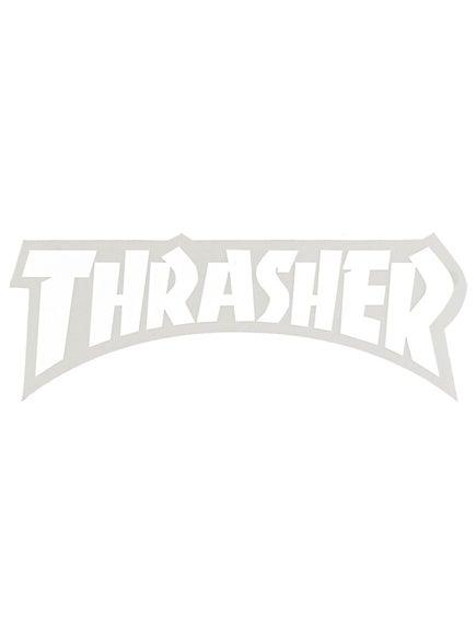 Thrasher Logo Die Cut Sticker  White