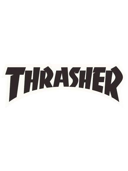 Thrasher Logo Die Cut Sticker  Black