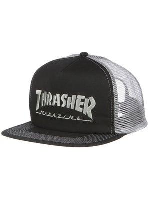 Thrasher Logo Mesh Hat Black/Grey