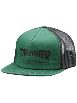 Thrasher Logo Mesh Hat Green/Black