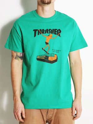 Thrasher Neck Face Tee Kelly Green MD