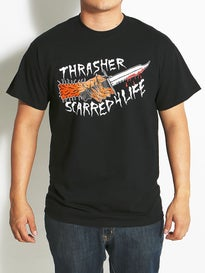 Thrasher Neck Face Scarred T-Shirt