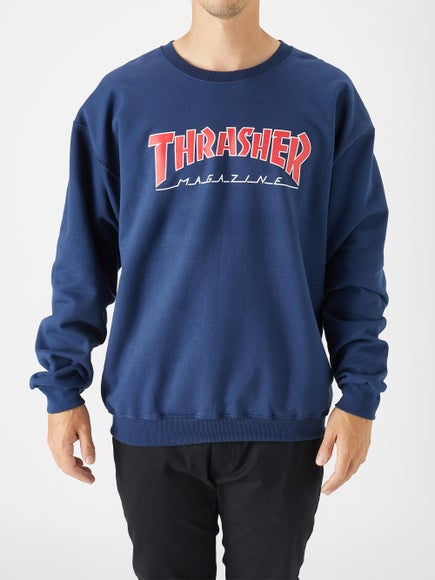 d1097053fe2c Thrasher Outlined Skate Mag Crewneck Sweatshirt
