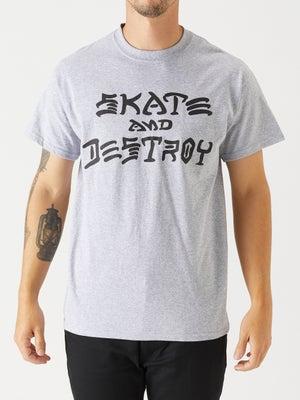 Thrasher Skate and Destroy Tee MD Grey