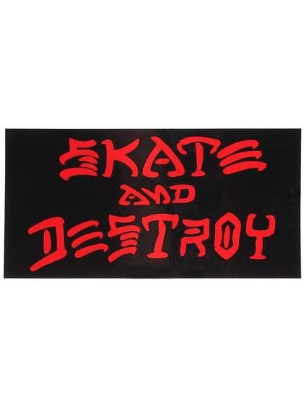 Thrasher Skate And Destroy Large Sticker Black
