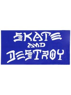 Thrasher Skate And Destroy Large Sticker Blue