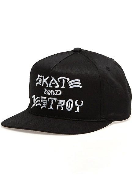 Thrasher Skate and Destroy Snapback Hat