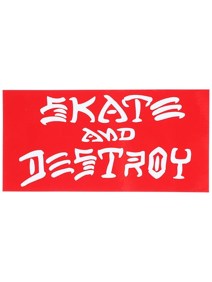 Thrasher Skate And Destroy Large Sticker Red