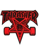 Thrasher Skate Goat Sticker Red