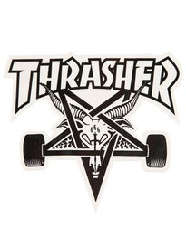 Thrasher Skate Goat Sticker White