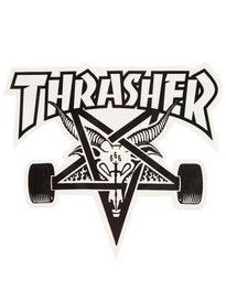Thrasher Skate Goat Sticker White