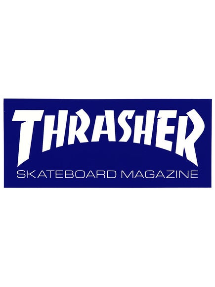 Thrasher Skate Mag Logo Medium Sticker Blue