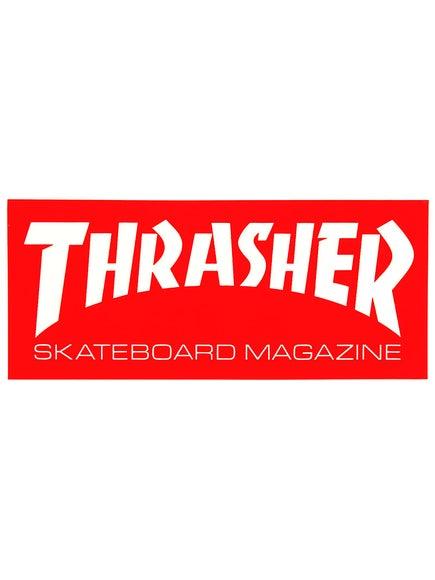 Thrasher Skate Mag Logo Medium Sticker Red