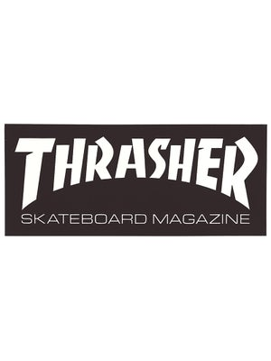 Thrasher Skate Mag Logo Medium Sticker Black