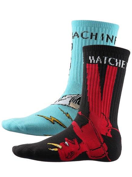 Toy Machine Bury The Hatchet Crew Socks c3eece856055