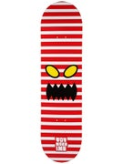 Toy Machine Monster Face Stripe Deck 8.125 x 31.625