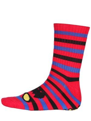 Toy Machine Monster Stripe Crew Socks Red/Blue