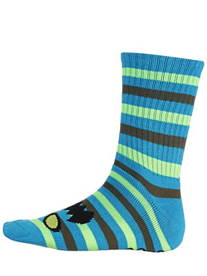 Toy Machine Monster Stripe Crew Socks Blue/Neon