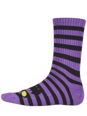 Toy Machine Monster Stripe Crew Socks Purple/Blk
