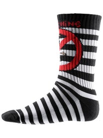 Toy Machine No Scooter Striped Crew Socks