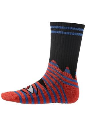 Toy Machine Sect Eye Stripe Crew Socks Blue/Red