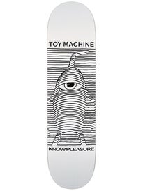 Toy Machine Toy Division White Deck 8.125 x 31.875