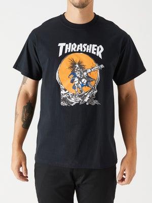 Thrasher Skate Outlaw Tee MD Black