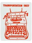 Transportation Unit Typewriter Sticker