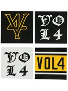 Vol 4 Mixed Logo Stickers 4pk